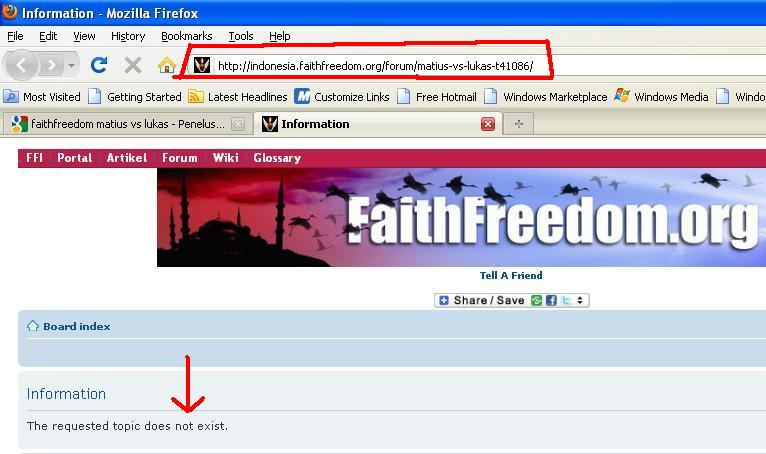 Kebusukan Faith Freedom oleh Kristolog 6
