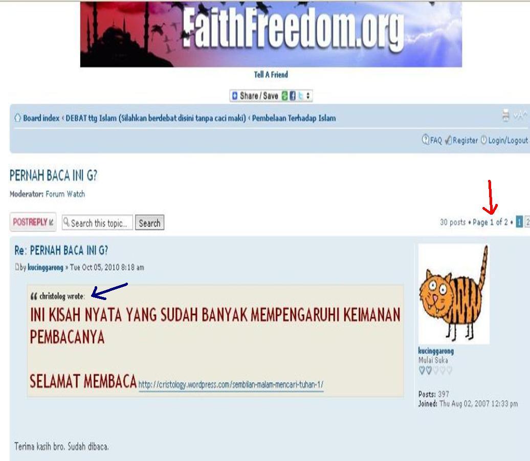 Kebusukan Faith Freedom oleh Kristolog Presentation1