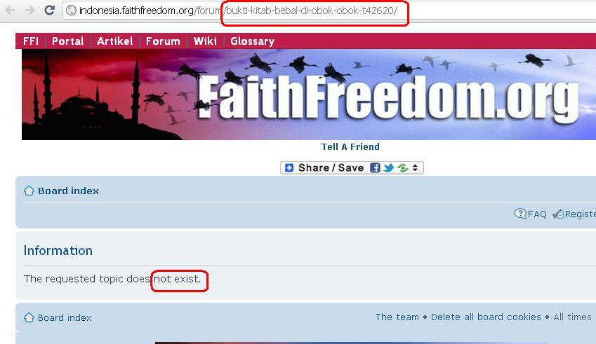 Kebusukan Faith Freedom oleh Kristolog Obok2-2