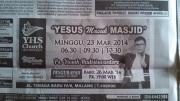 Yesus Masuk Masjid